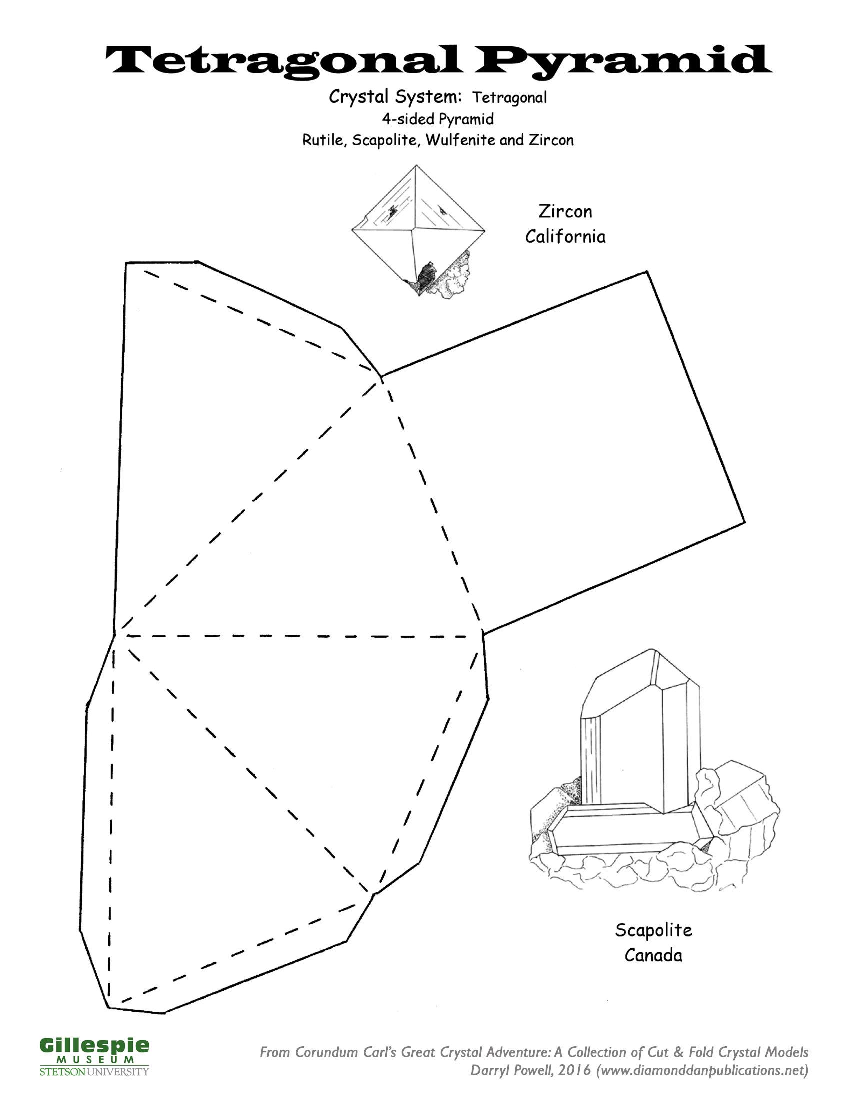 crystal tetragonal pyramid