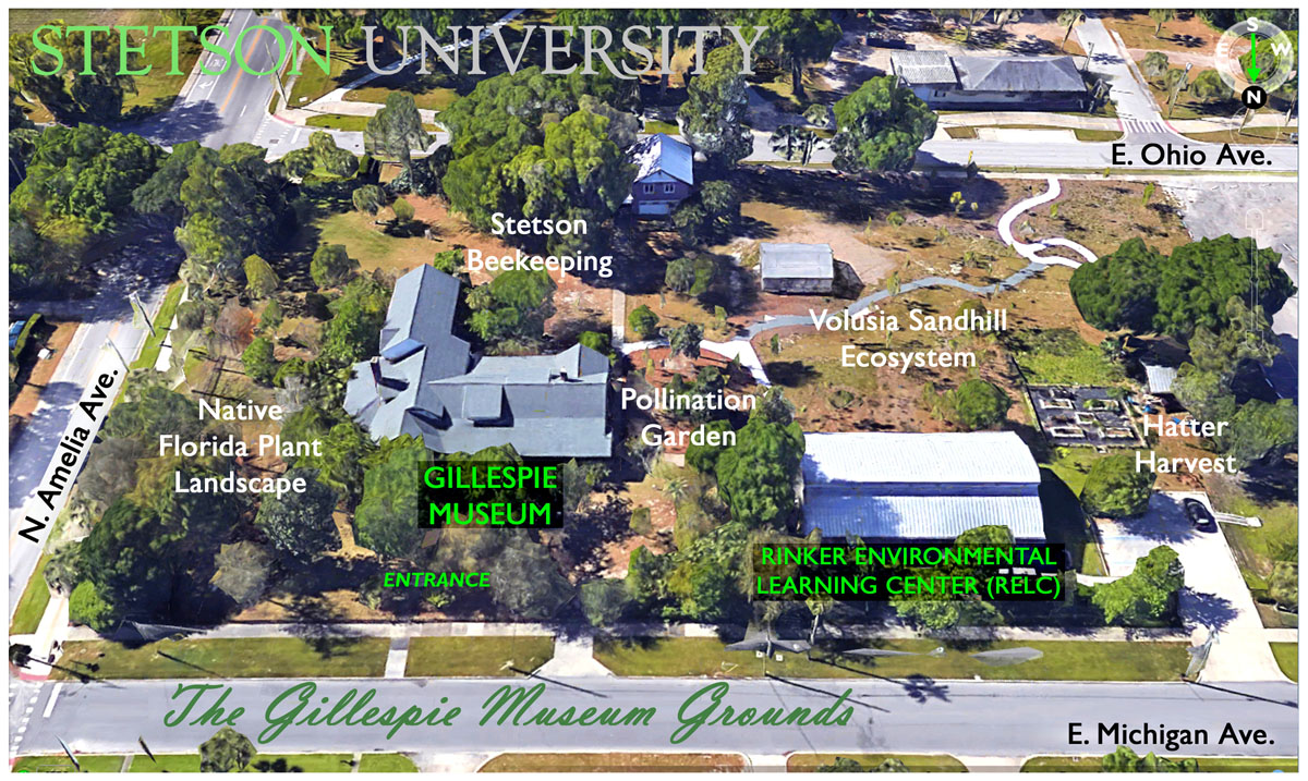 Gillespie Museum Grounds aerial map