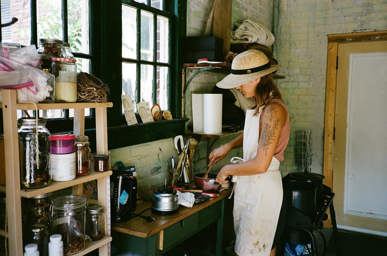 Kayla Powers dye studio