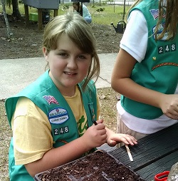 Girl Scout with Seeds