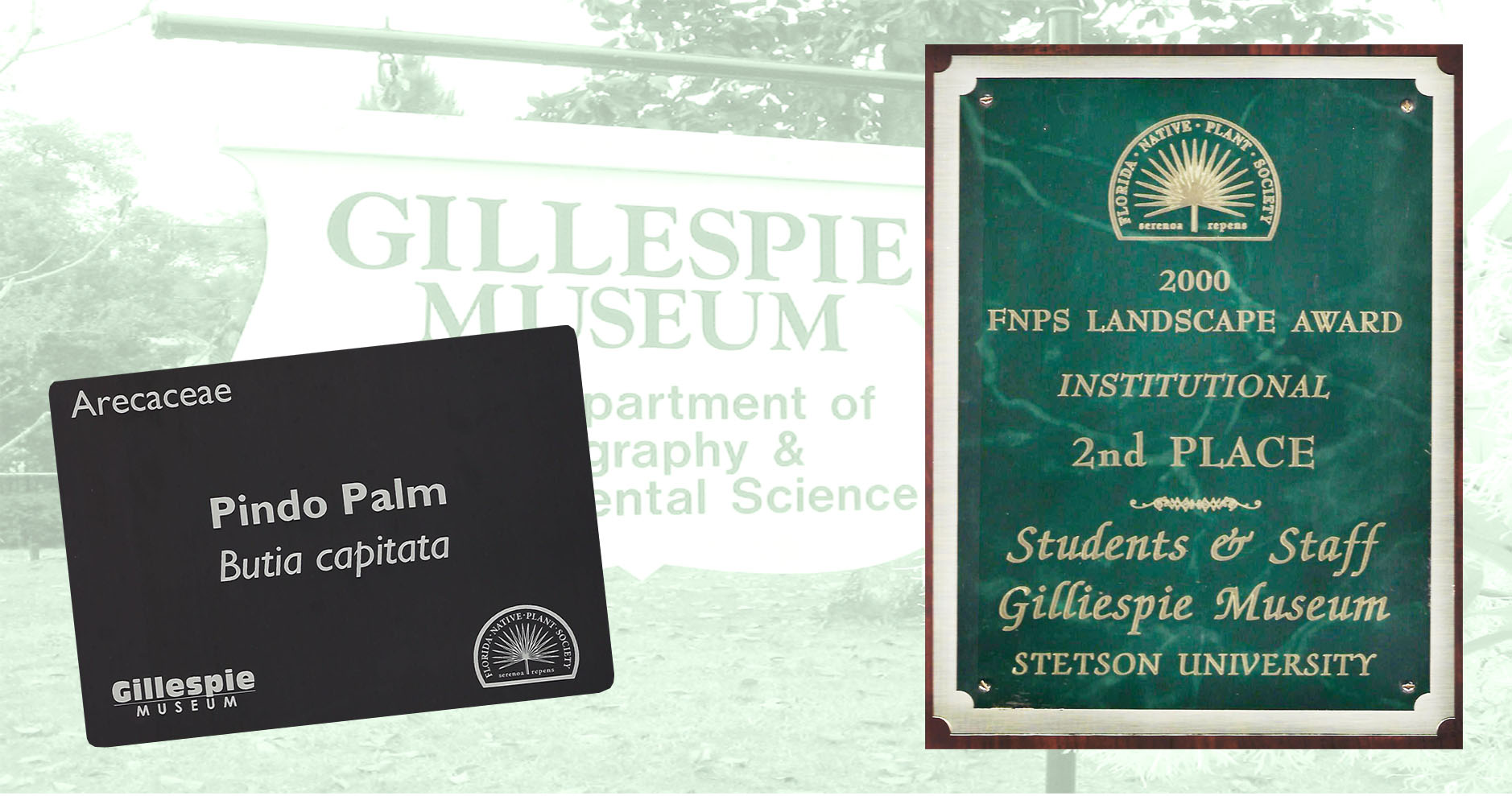 Florida Native Landscape award and plant sign