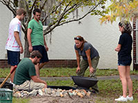 Flora of Florida students created a water feature for use by birds, mammals, amphibians and insects. With the addition of a water feature, bird houses and pollinator garden, they applied for, and were granted, certification as a Wildlife Habitat by the National Wildlife Federation.