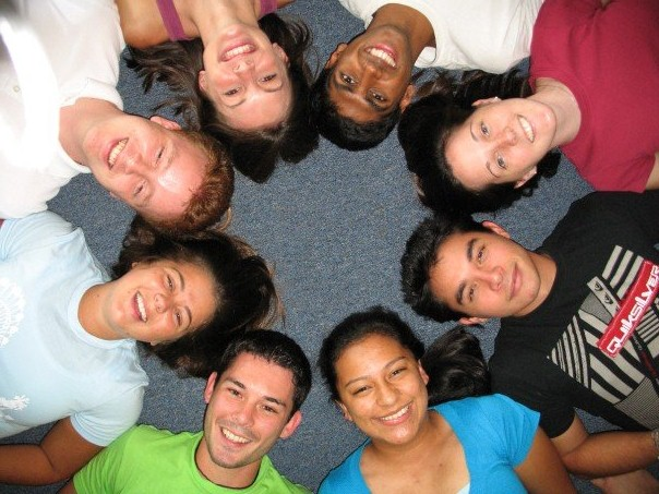 Students in Circle