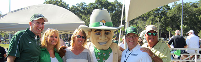 Mascot with Parents