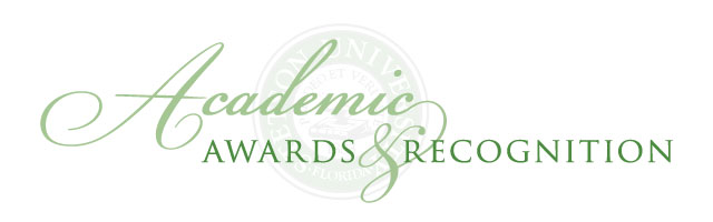 Undergraduate Awards and Recognition Banner 2020
