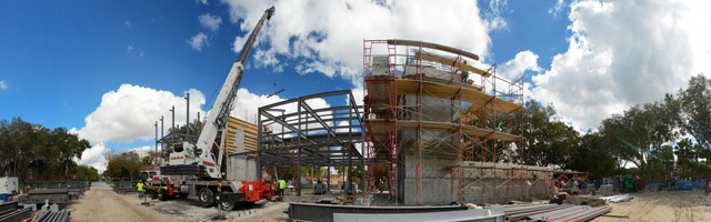 2016 Rinker Welcome Center construction image