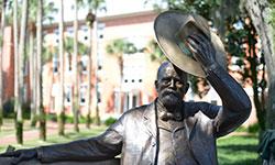 John B. Stetson's bronze statue on the DeLand campus.